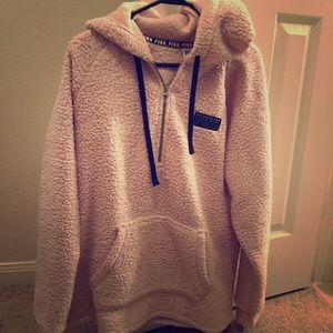 Victoria secret pink Sherpa pullover